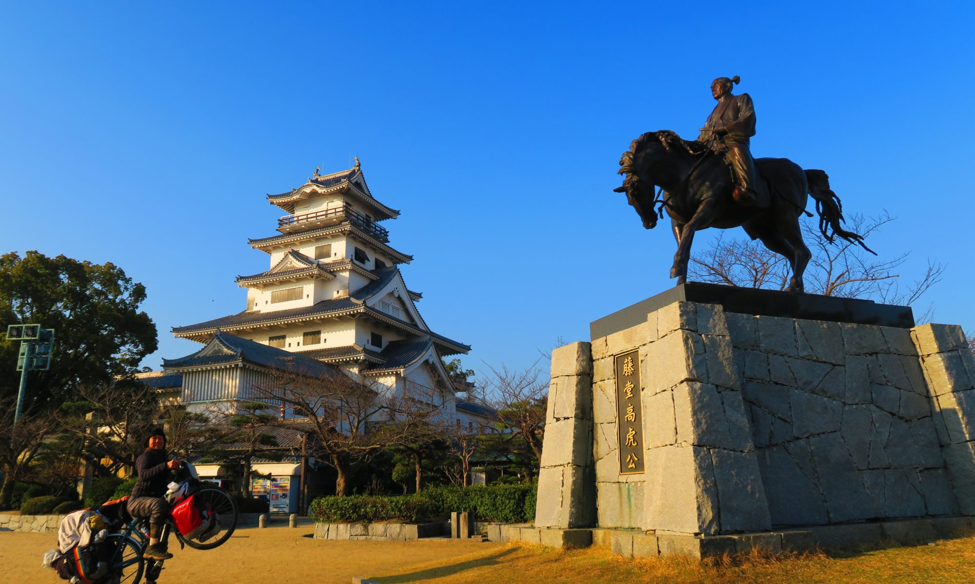 自転車で「日本一周100名城」